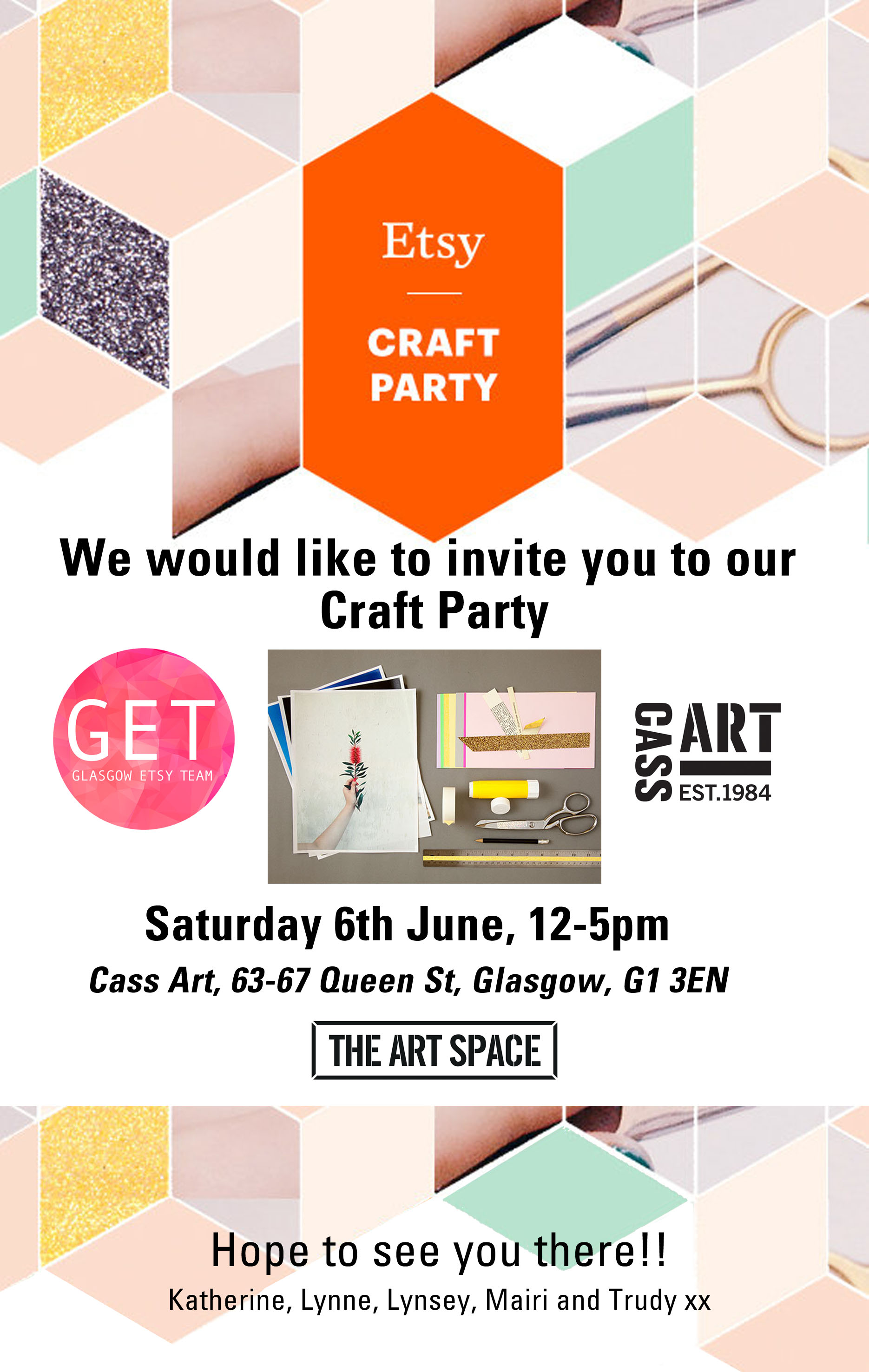 A personal invite to our GET craft party - Glasgow Etsy Team